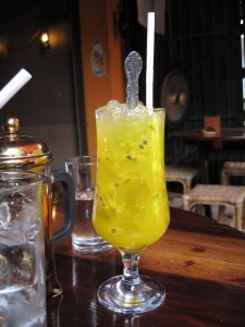 Siem Reap: iced passion fruit juice